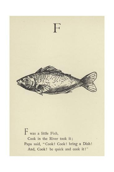 The Letter F-Edward Lear-Giclee Print