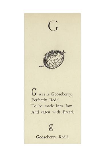 The Letter G-Edward Lear-Giclee Print