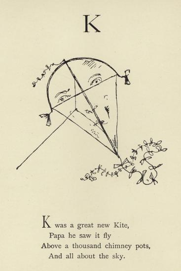 The Letter K-Edward Lear-Giclee Print