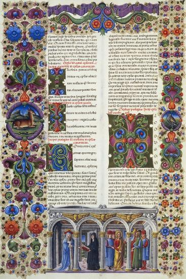 The Letter of James, Second Volume of Bible of Borso D'Este--Giclee Print