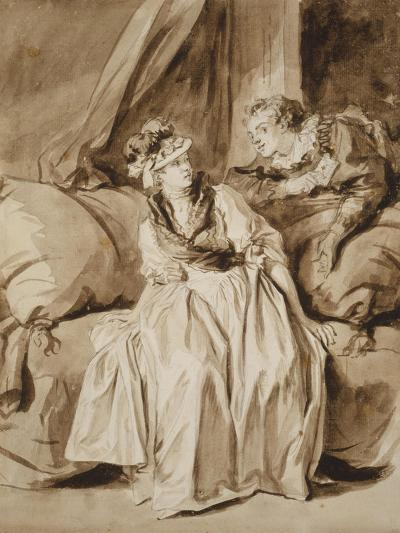 The Letter, or the Spanish Conversation, C. 1778-Jean-Honore Fragonard-Giclee Print