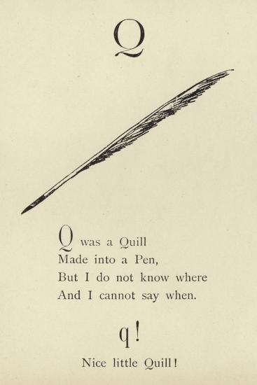 The Letter Q-Edward Lear-Giclee Print