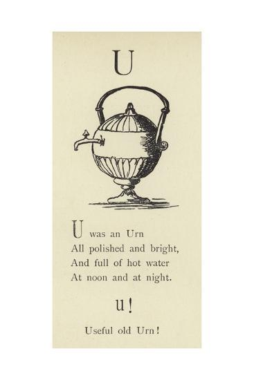 The Letter U-Edward Lear-Giclee Print