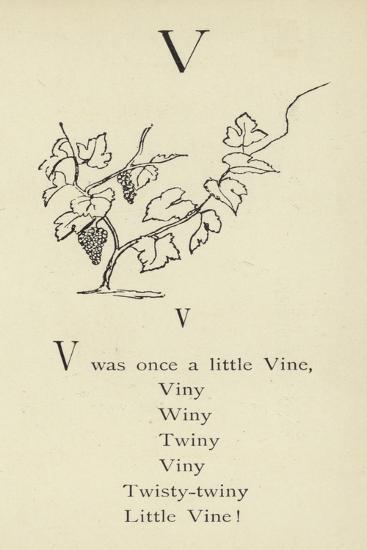 The Letter V-Edward Lear-Giclee Print