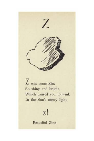 The Letter Z-Edward Lear-Giclee Print