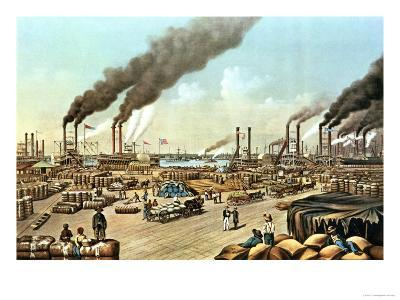 The Levee, New Orleans, 1884-Currier & Ives-Giclee Print