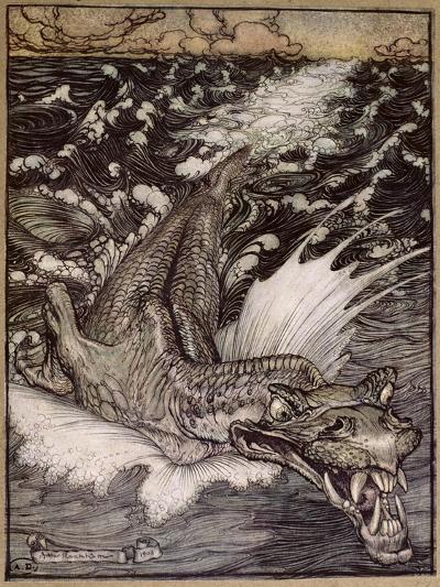 The Leviathan, 1908-Arthur Rackham-Giclee Print