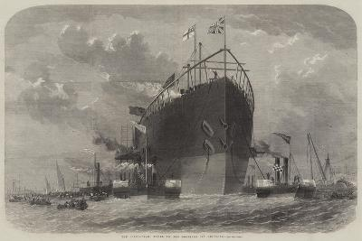 The Leviathan Towed to Her Moorings Off Deptford-Edwin Weedon-Giclee Print