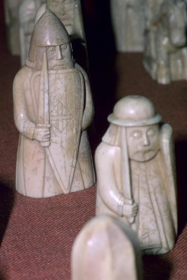 The Lewis Chessmen, (Norwegian?), c1150-c1200. Artist: Unknown-Unknown-Giclee Print
