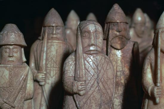 The Lewis Chessmen, (Norwegian?), c1150-c1200-Unknown-Giclee Print