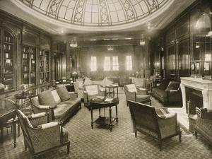The Library and Writing Room Aboard the 'Mauretania'
