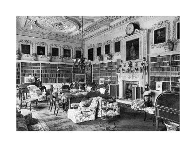 The Library, Chesterfield House, 1908--Giclee Print