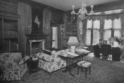 The library - house of Carll Tucker, Mount Kisco, New York, 1925--Photographic Print