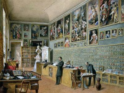 The Library, in Use as an Office of the Ambraser Gallery in the Lower Belvedere, 1879-Carl Goebel-Giclee Print