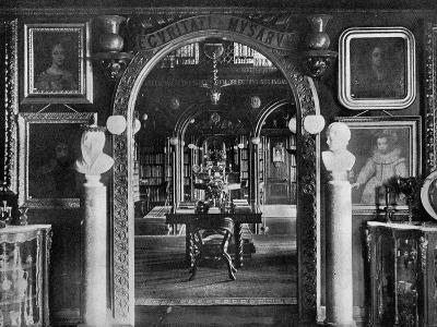 The Library, Keir House, Bridge of Allan, Stirlingshire, Scotland, 1924-1926-Valentine & Sons-Giclee Print