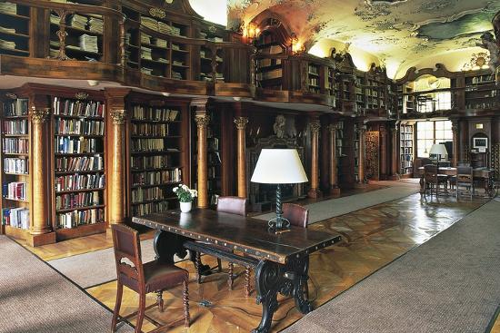 The Library of the Leopoldskorn Castle, Salzburg, Austria--Photographic Print