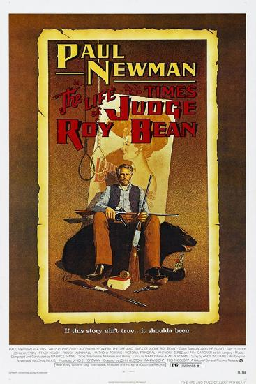 The Life and Times of Judge Roy Bean, US poster, Paul Newman, 1972--Art Print