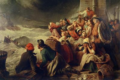The Life-Boat Going to the Rescue, 1861-Thomas Brooks-Giclee Print