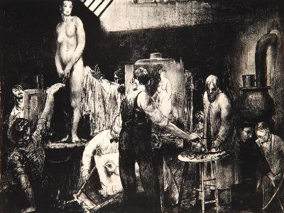 The Life Class, 1917-George Wesley Bellows-Giclee Print