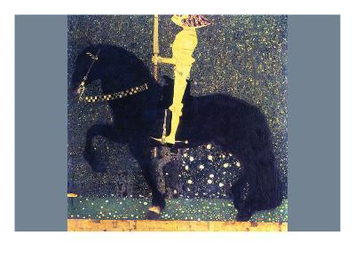 The Life of a Struggle (The Golden Knights)-Gustav Klimt-Art Print