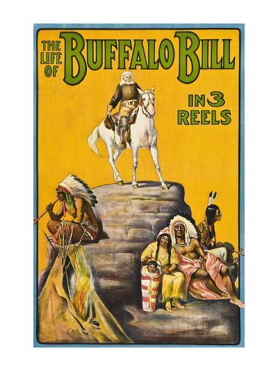 The Life of Buffalo Bill in 3 Reels--Art Print