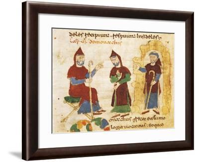 The Life of Monks--Framed Giclee Print