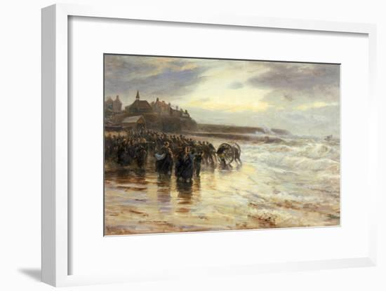 The Lifeboat Off, 1884-Robert Jobling-Framed Giclee Print