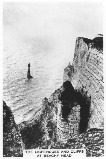 The Lighthouse and Cliffs at Beachy Head, 1936--Giclee Print