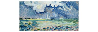 The Lighthouse at Gatteville-Paul Signac-Giclee Print