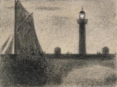 The Lighthouse at Honfleur, 1886-Georges Pierre Seurat-Giclee Print