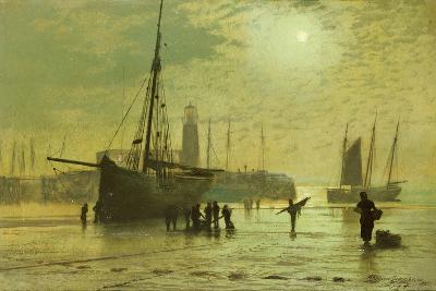 The Lighthouse at Scarborough, 1877-John Atkinson Grimshaw-Giclee Print