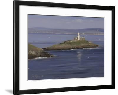 The Lighthouse, Bracelet Bay, Mumbles-Tom Hughes-Framed Giclee Print