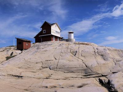 The Lighthouse on Stora Svangen, off the Island of Reso, Bohuslan, Sweden, Scandinavia-Kim Hart-Photographic Print
