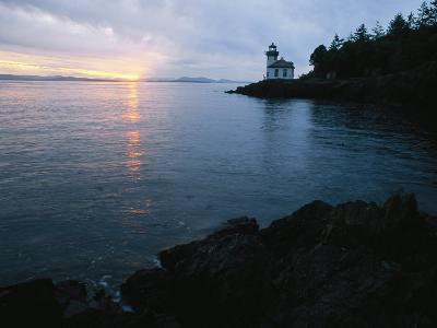 The Lime Kiln Lighthouse Casts its Warning Beacon-Phil Schermeister-Photographic Print