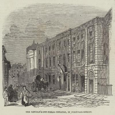The Lincoln's-Inn-Fields Theatre, in Portugal-Street--Giclee Print