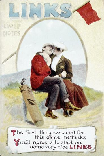 'The Links' postcard, 1905-Unknown-Giclee Print