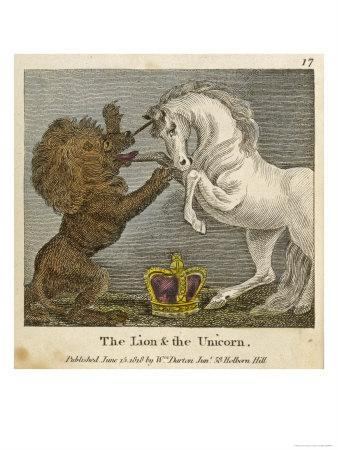 The Lion and the Unicorn were Fighting for the Crown--Premium Giclee Print
