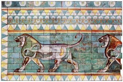 The Lion Frieze from King Darius' Winter Palace at Susa, Iran, 1933-1934--Giclee Print