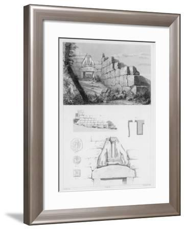 The Lion Gate at Mycenae Represents the Earliest Large Relief Structure on the Greek Mainland- Oulthwaite-Framed Giclee Print