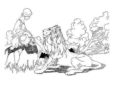 The Lion in Love-Charles Robinson-Premium Giclee Print