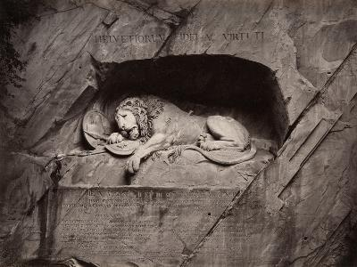 The Lion, Lucerne, Switzerland-Giorgio Sommer-Photographic Print