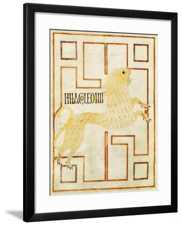The Lion, Miniature from the Gospel of Echternach, 8th Century--Framed Giclee Print