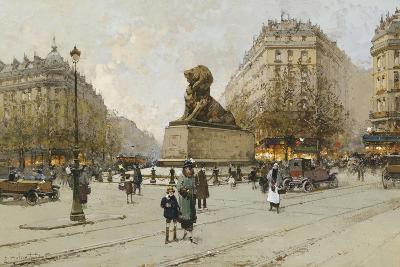 The Lion of Belfort; Le Lion De Belfort-Eugene Galien-Laloue-Giclee Print