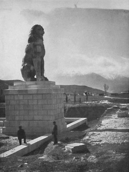 'The Lion of Chaeronea, the Acropolis and Mount Parnassus', 1913-Unknown-Photographic Print
