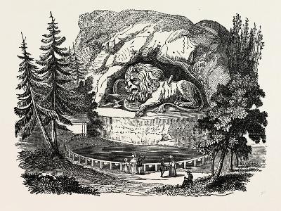 The Lion of Thorwaldsen. Bertel Thorvaldsen, Ca. 1770 1844, Was a Danish Sculptor--Giclee Print
