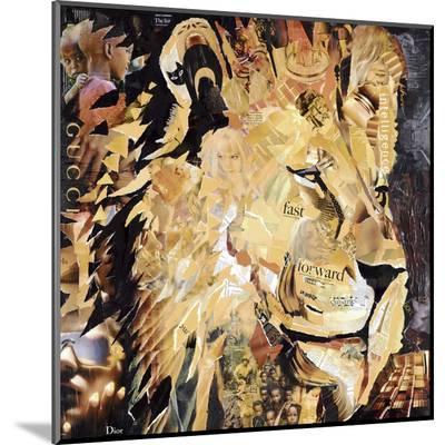 The Lion-James Grey-Mounted Print