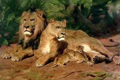 The Lions at Home, 1881-Rosa Bonheur-Giclee Print