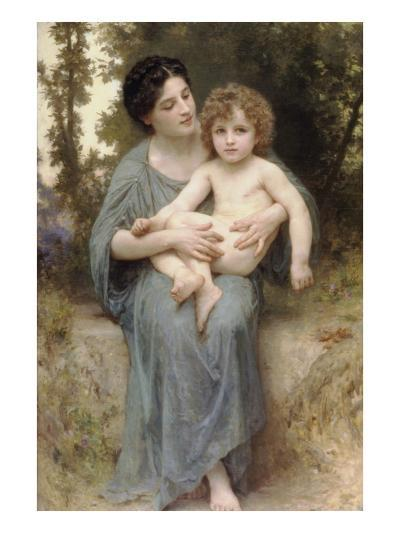 The Little Brother-William Adolphe Bouguereau-Art Print