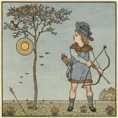 The Little Cock Sparrow-Walter Crane-Giclee Print