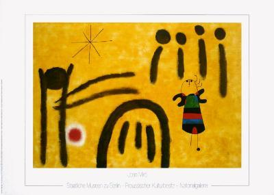 The Little Fair Girl in the Park-Joan Mir?-Art Print
